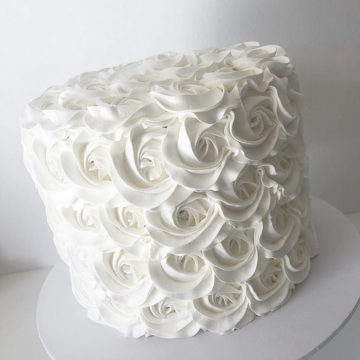 Classic Butter Creme Rose Cake