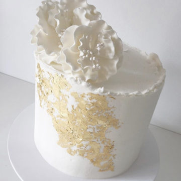 Gold Waterfall Cake